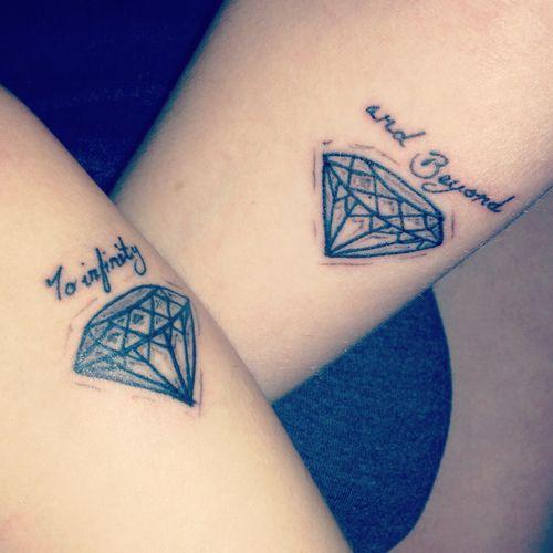 Diamond Tattoo with words