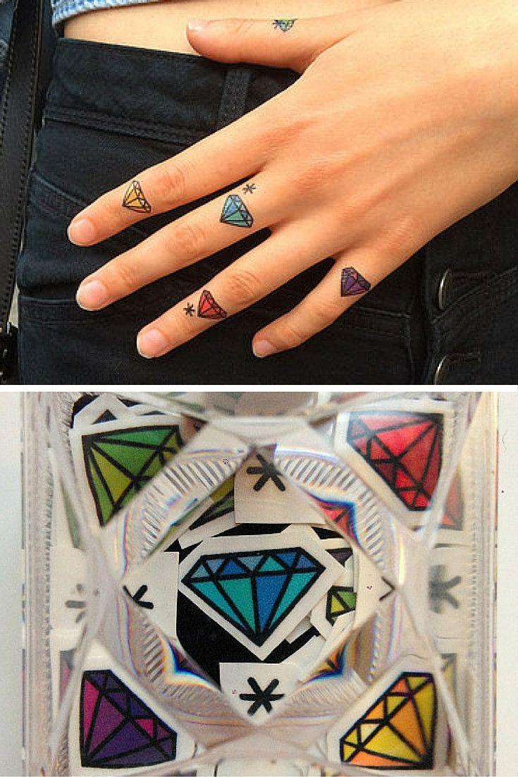 Diamond in box tattoo