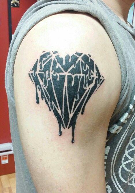 Melting Diamond Tattoo