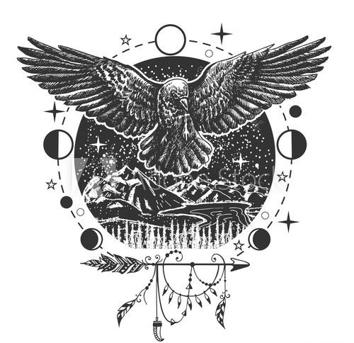 Importance Of Raven Tattoo