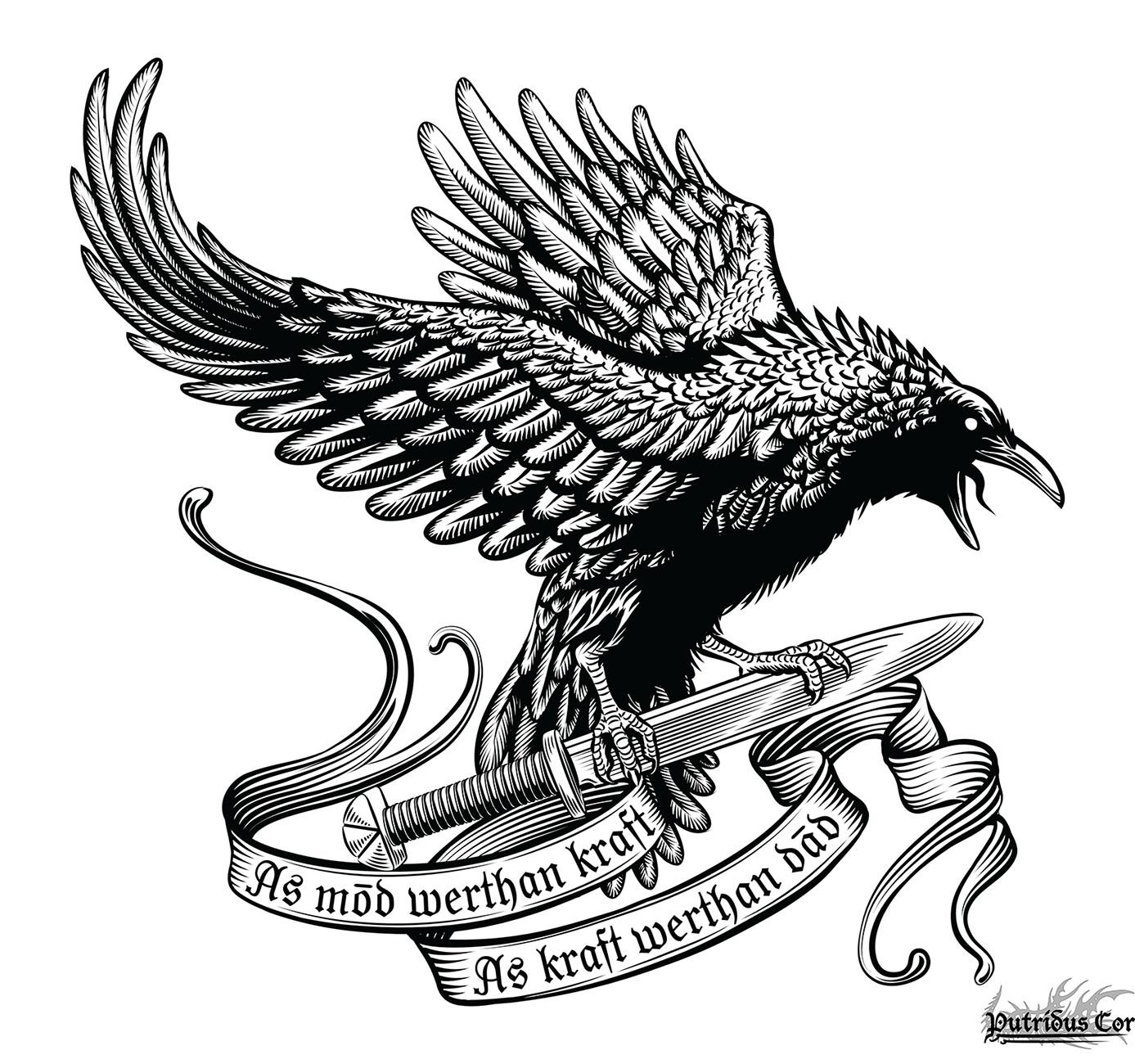 Origin Of Raven Tattoo