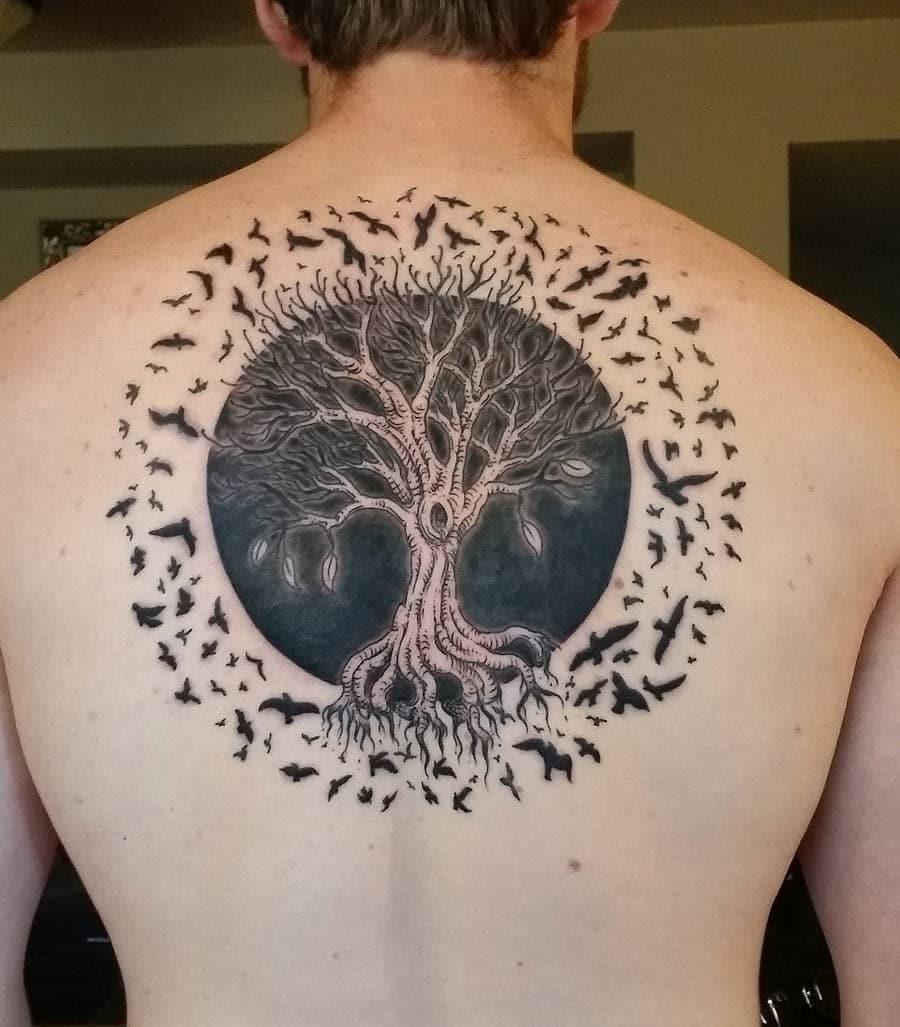 Back Tattoo design 4