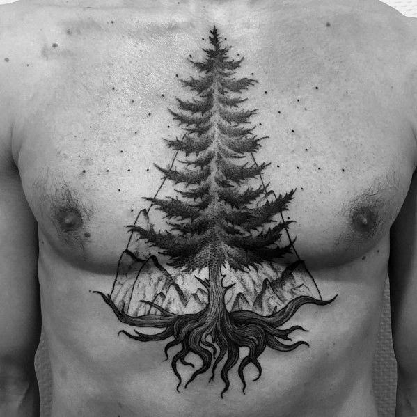 Chest Tattoo design 10