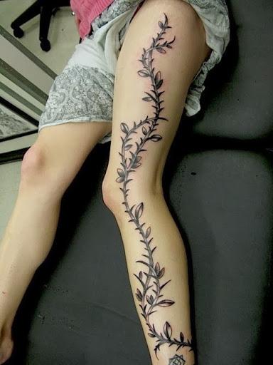 Legs Tattoo design 14