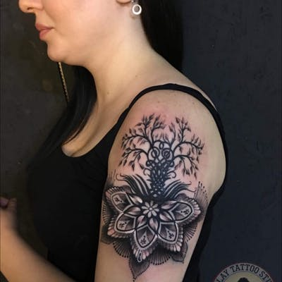 Forearms Shoulders Tattoo design 10
