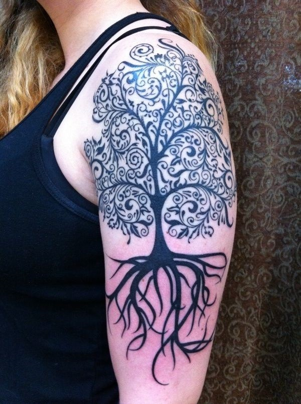 Forearms Shoulders Tattoo design 9
