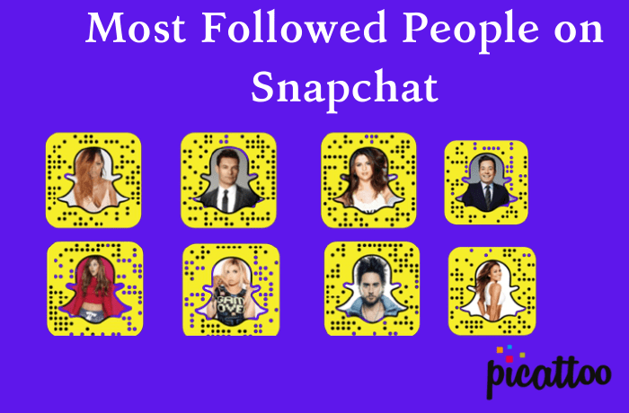 Most Followed People on Snapchat